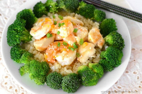 Apricot Sesame Shrimp & Chicken