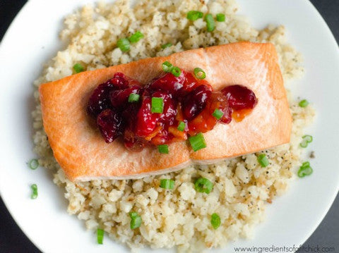 20 Minute Cranberry Orange Coho Salmon