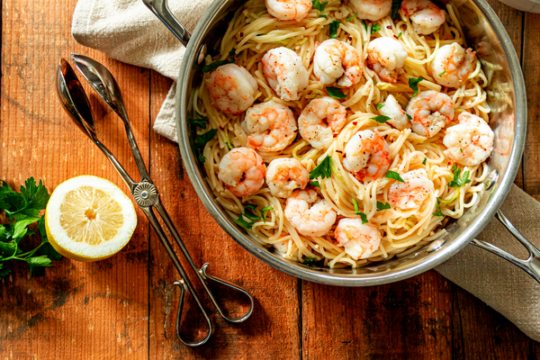 Lemon Garlic Butter Shrimp Scampi