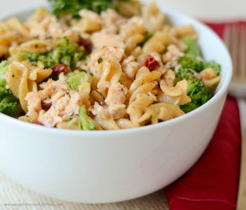 Salmon, Broccoli & Sundried Tomato Pasta