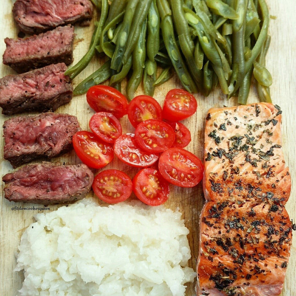 Simple Salmon Surf n Turf