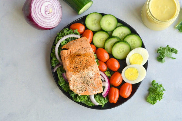 Caesar Cobb Salmon Salad
