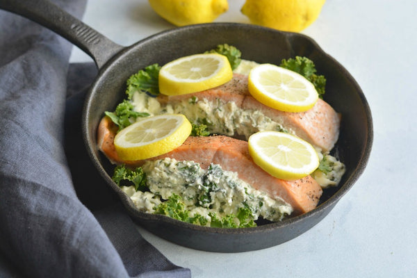 Keto Stuffed Salmon