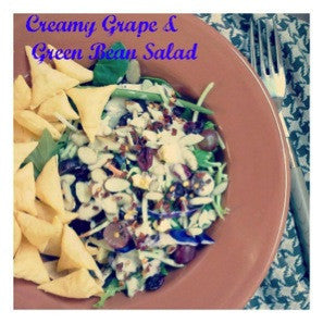 What to do with Fish Leftovers – Grape and Green Bean Salmon Salad