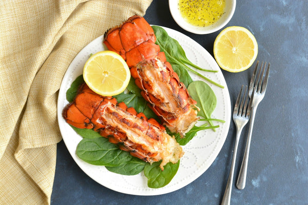 Garlic Basil Butter Grilled Lobster