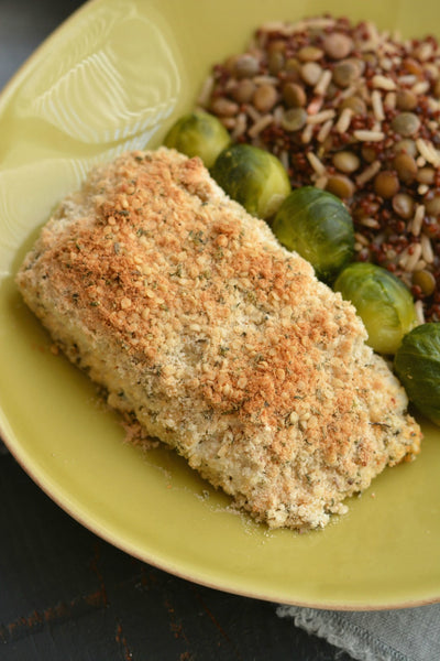 Hemp Coconut Crusted Halibut