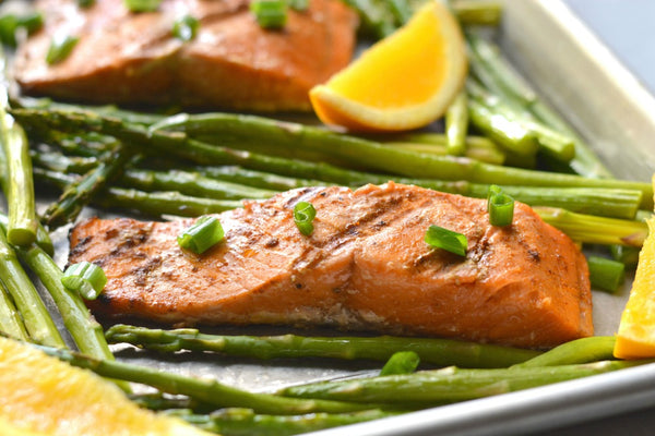 Honey Orange Grilled Salmon & Asparagus