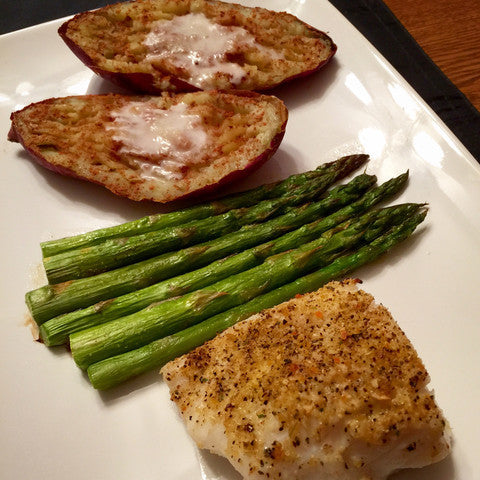 Easy Orange Garlic & Herb Baked Cod