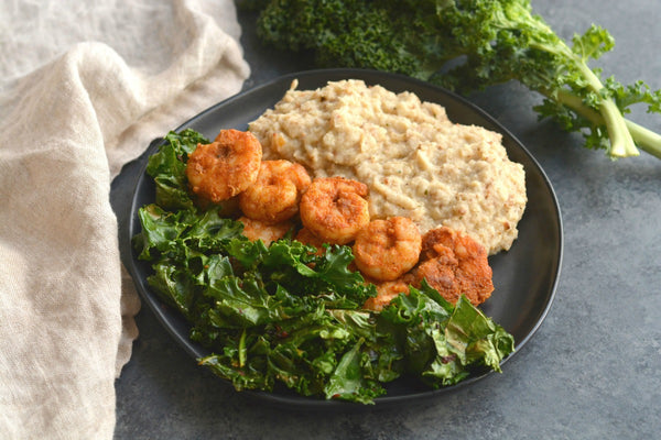 Paprika Shrimp & Cauliflower Mash