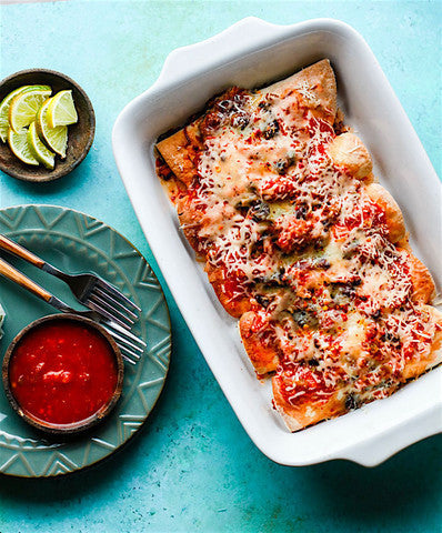 Salmon Black Bean Burrito Bake
