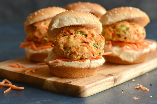 Crispy King Salmon Sliders