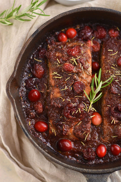 Skillet Cranberry Balsamic Salmon