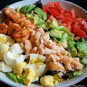 Grilled Shrimp and White Fish Salad