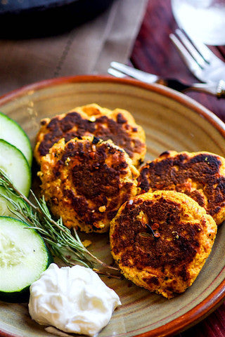 Easy Veggie Packed Paleo Salmon Cakes
