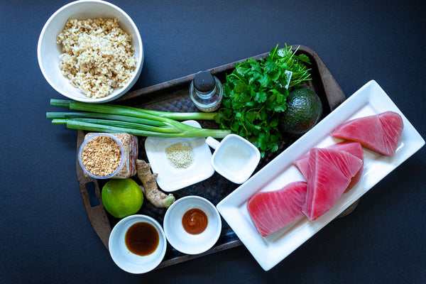 Ahi Tuna Poke Bowl Ingredients