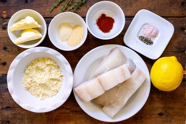Almond Crusted Halibut Ingredients