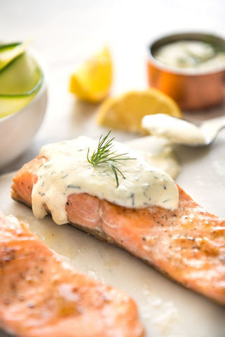 Salmon With Creamy Dill Sauce Keto Recipe
