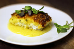 Crispy Halibut With White Wine