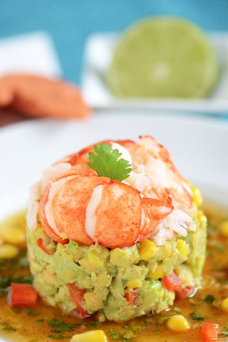 Lobster chickpea and avocado salad recipe