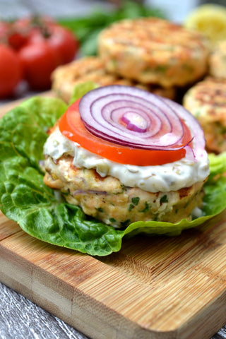 Low Carb Salmon Burger Recipe