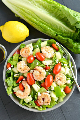 Loaded Greek Shrimp Salad