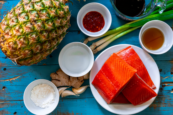 Hawaiian Grilled Salmon Ingredients