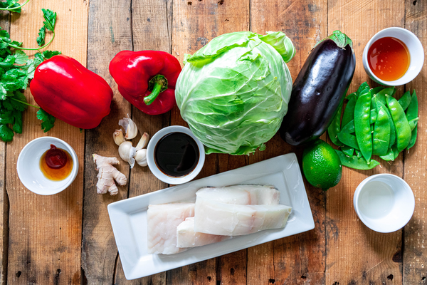 Honey Baked Marinated Halibut Ingredients