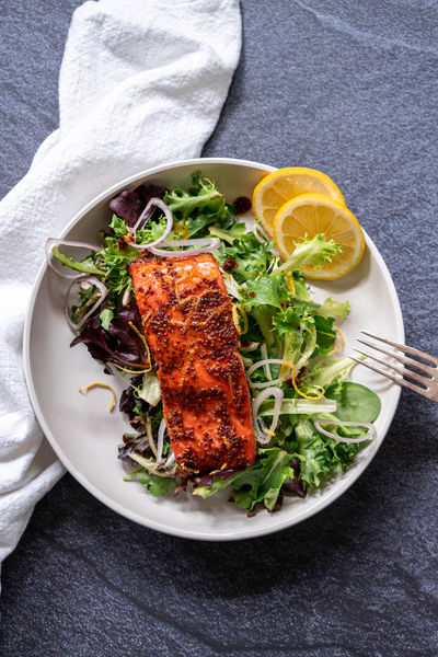 Honey Mustard Baked Salmon Hero Image
