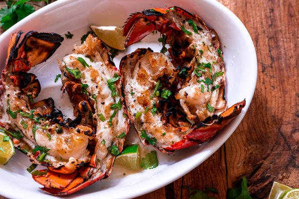 Cilantro Grilled Lobster Tails