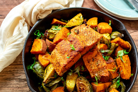 Moroccan Spiced Salmon in Skillet