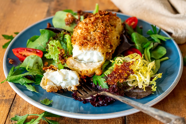 Parmesan Crusted Halibut with Fork