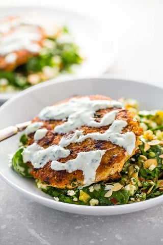 Lemon Herb Salmon Burger Recipe