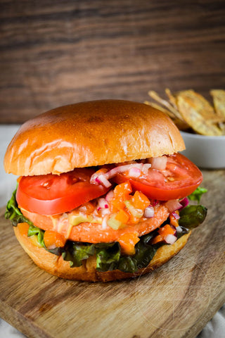 Salmon Burger With Apricot Relish Recipe