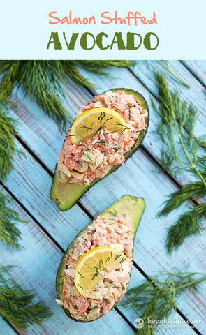 Salmon Stuffed Avocado Ketogenic Recipe