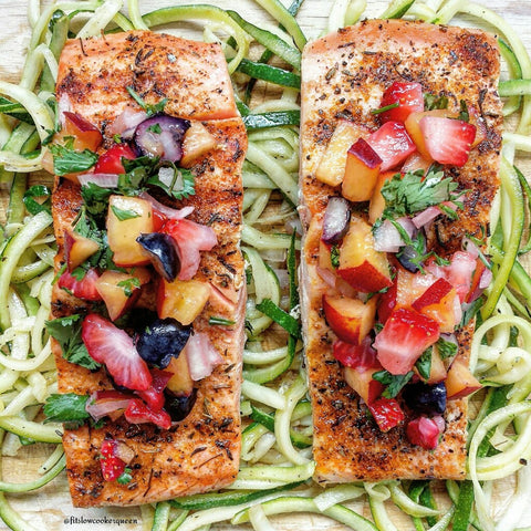 Fruit Salsa Covered Salmon Recipe
