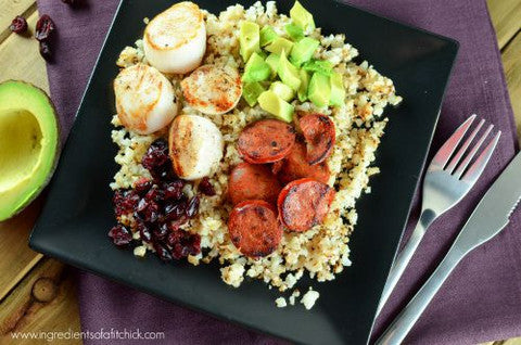 Scallops and Chorizo Rice Bowl Recipe