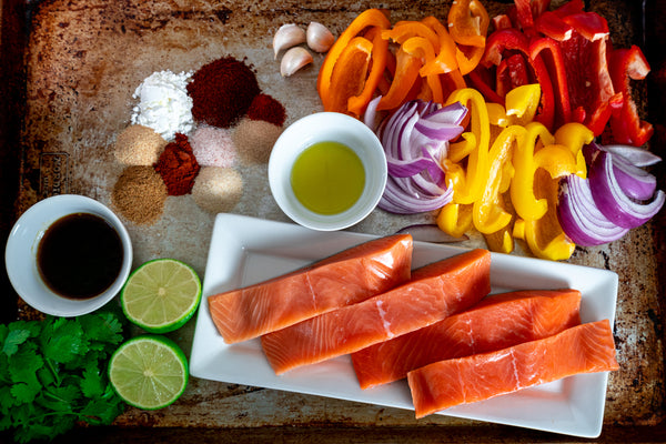 Sheet Pan Salmon Fajitas Ingredients