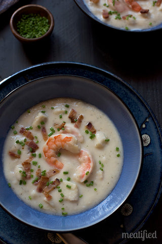 Creamy Cod and Shrimp Chowder