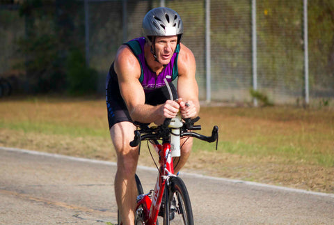 Athletic man On Bicycle