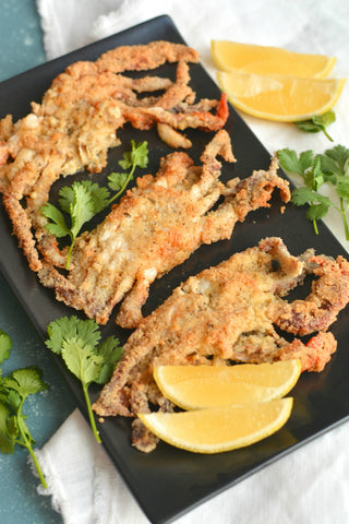 Almond Flour crusted soft-shell Crab