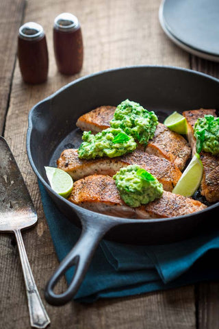 Avocado & Basil Salmon Ketogenic Recipe