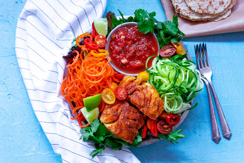 Deconstructed Fish Taco Salad