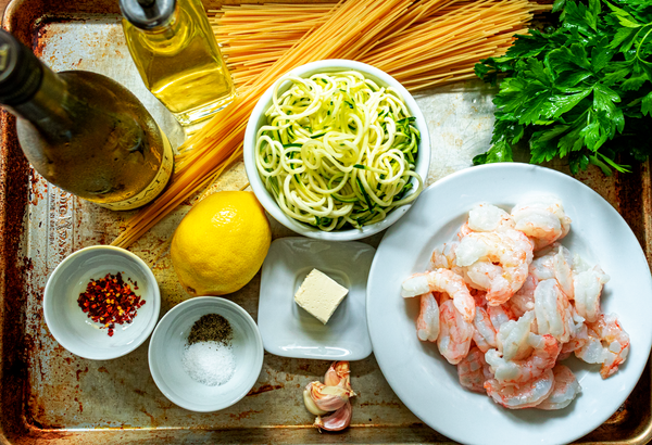 Lemon Garlic Butter Shrimp Scampi Ingredients