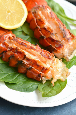Garlic Basil Butter Grilled Lobster Tails