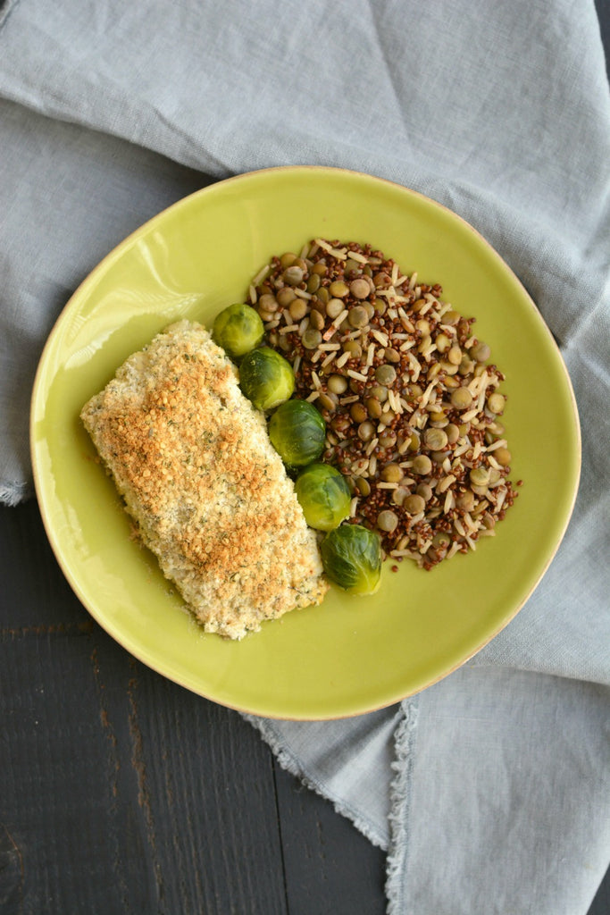 Coconut Crusted Halibut