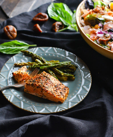 Roasted Salmon Recipe with Herb