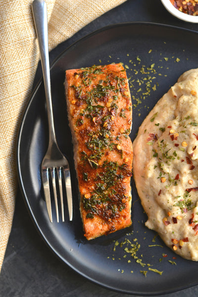 Jerk Spiced King Salmon