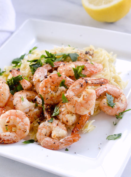 Weight Watchers Lemon Shrimp Scampi and Orzo