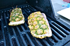 Pinapple Planked Halibut
