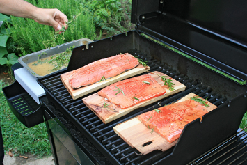 Grilled Salmon planks
